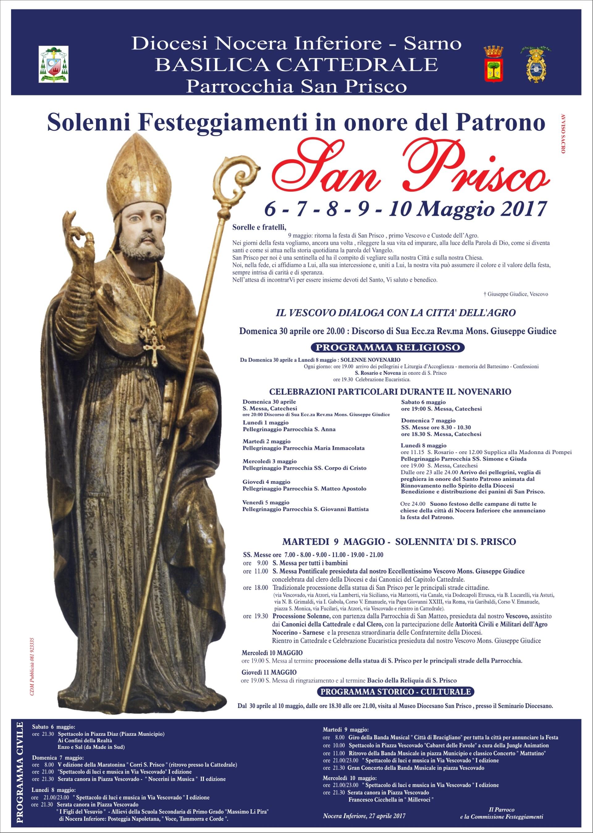 Programma Festa San Prisco 2017