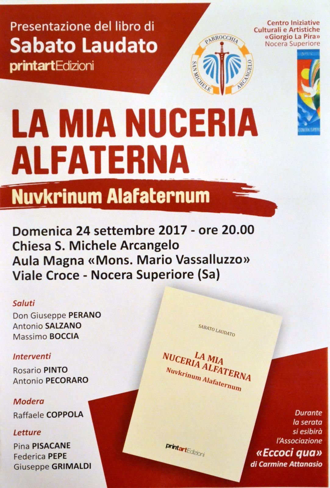 """Announcement: """"La mia Nuceria Alfaterna"""" di Sabato Laudato"""